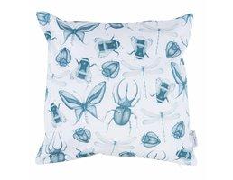 sierkussen Delft Blue Insects