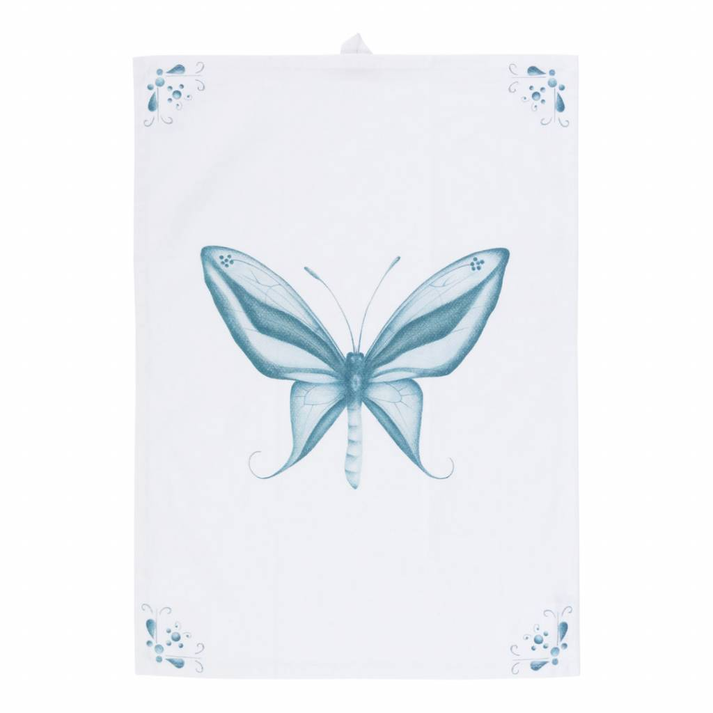 theedoek Delft Blue Butterfly