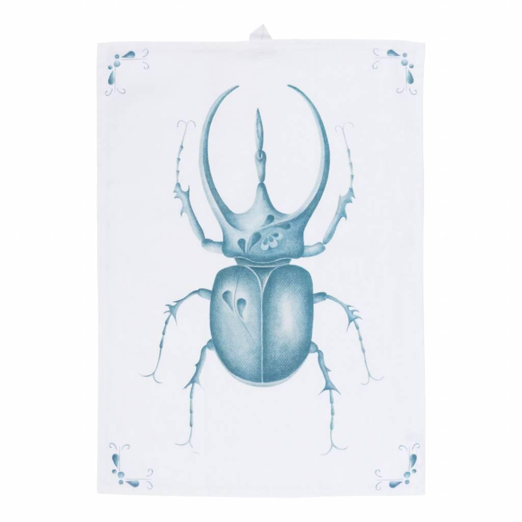 theedoek Delft Blue Bug