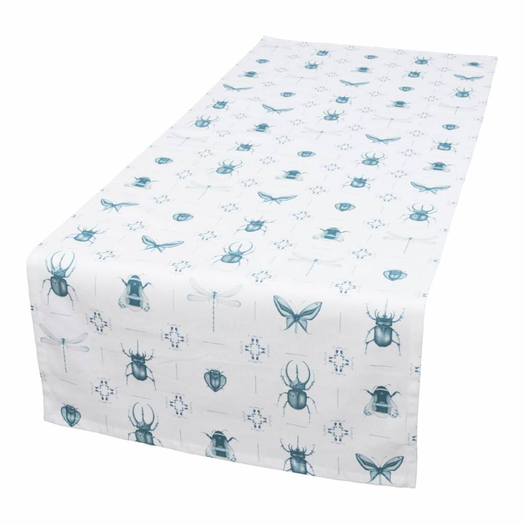 tafelloper Delft Blue Tiles