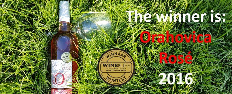 Orahovica Rosé 2016: Winner at Winelife magazine