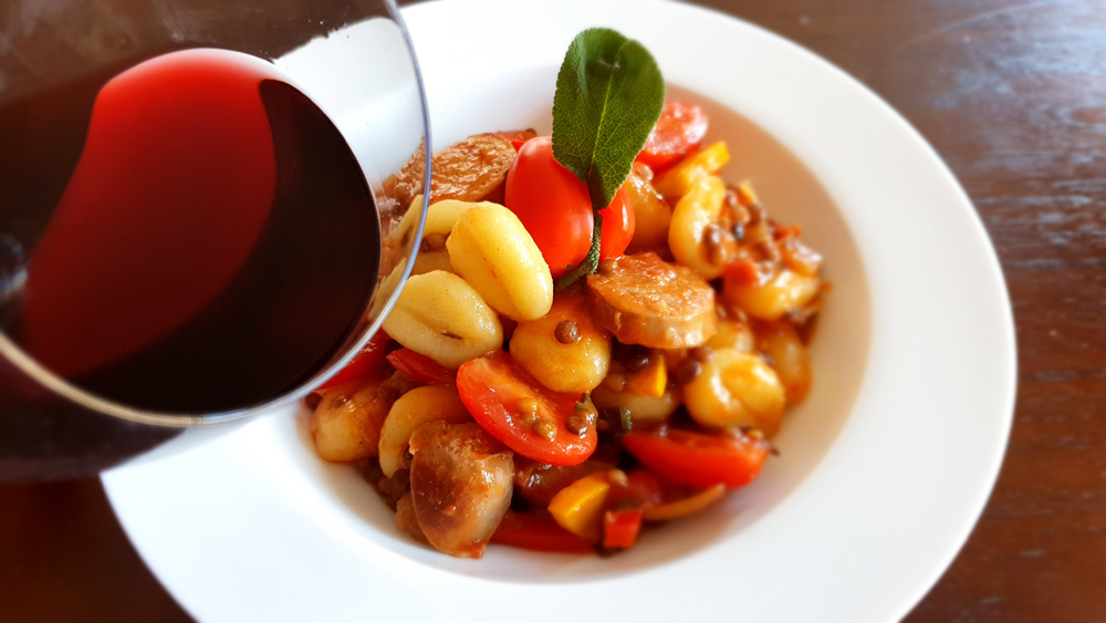 Recept gnocchi braadworst linzen