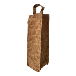 Cork-look gift bag for wine bottle