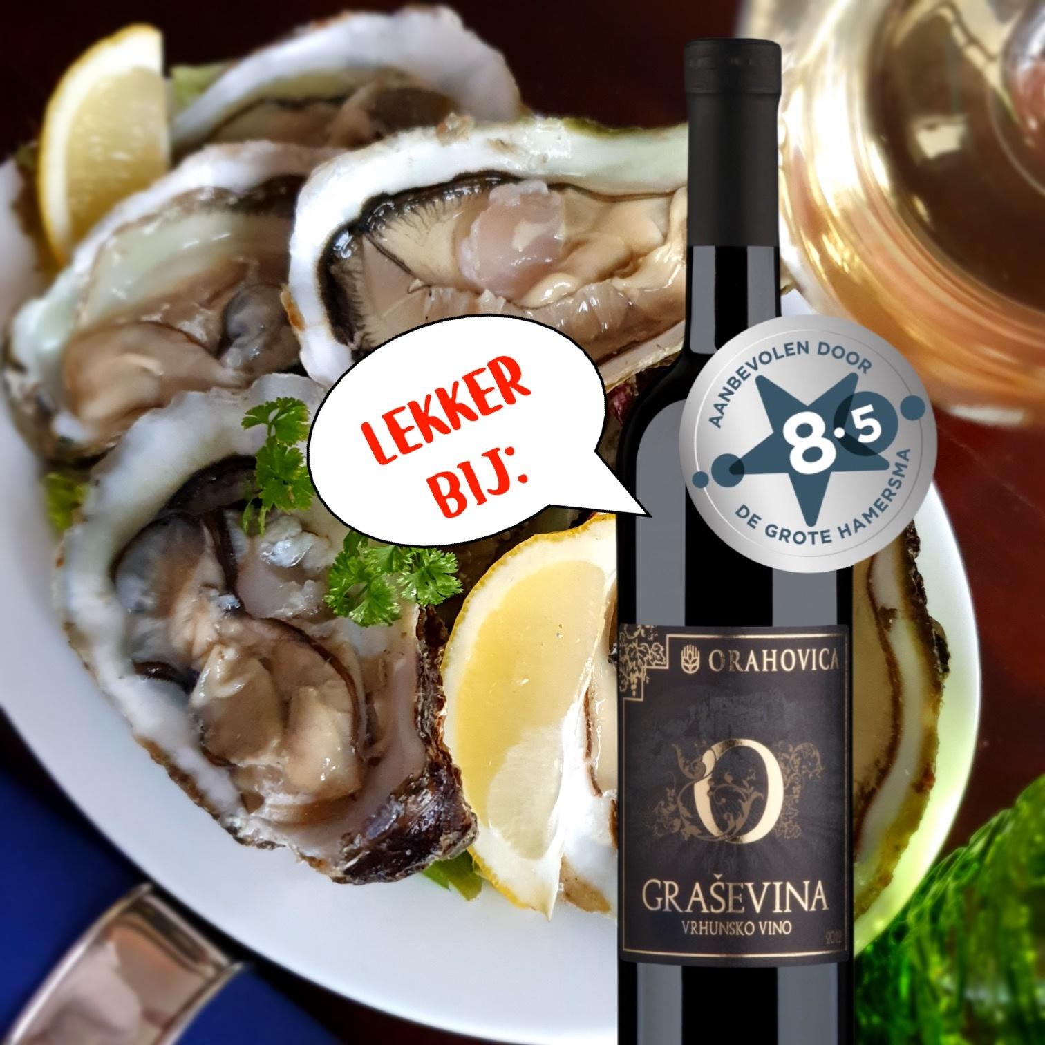 Grasevina Vrhunsko bij oesters