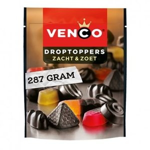 Venco Droptoppers zacht en zoet