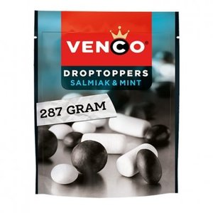 Venco Drop Toppers salmiak and mint