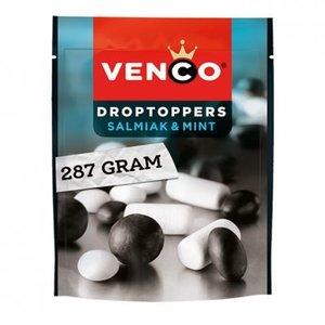Venco Droptoppers salmiak en mint