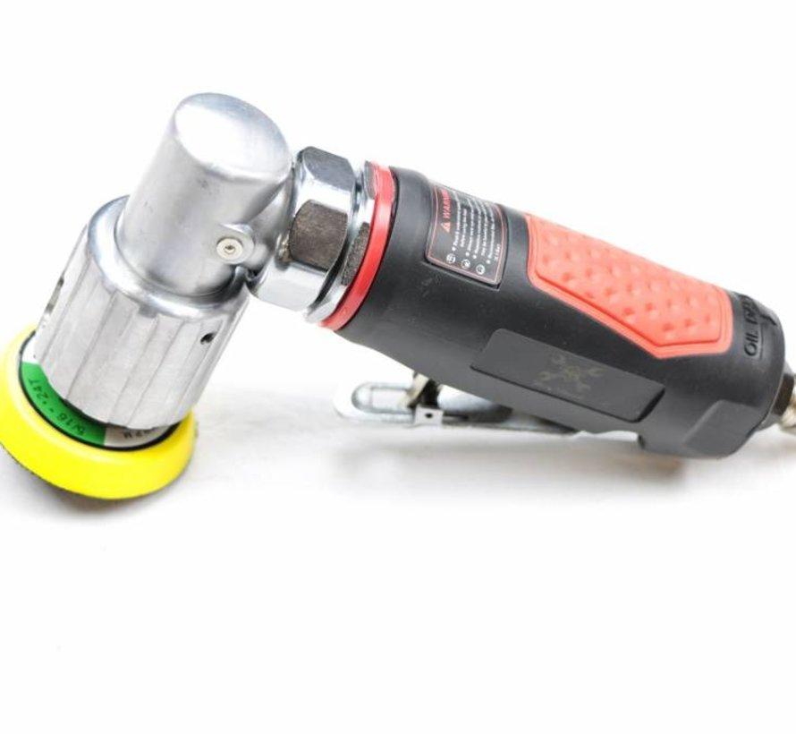 Nehmen Sie Pneumatische 50 mm. Schwingschleifer mit Klettverschluss.