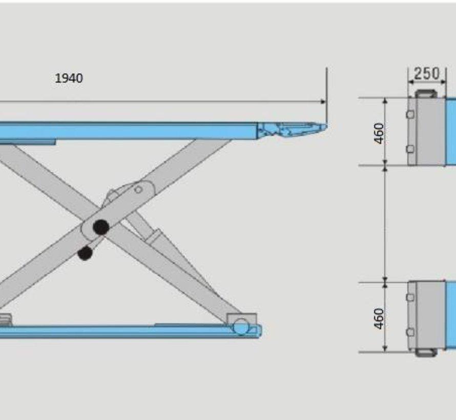 TM 3 Tonnen professionelle Elektroauto-Reinigungsbrücke, Reinigungsbrücke, Reifenbrücke - 230 Volt