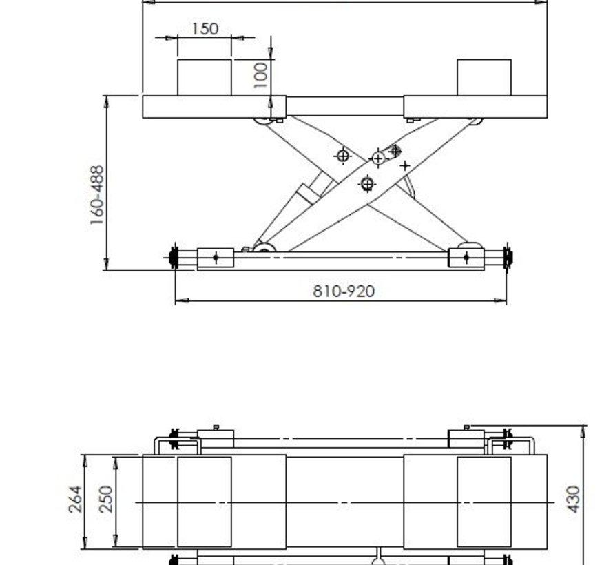 Midden krik lucht/hydraulisch 2T