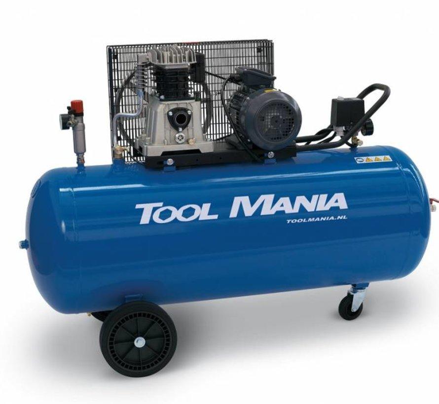 200 Liter Compressor V-Snaar Aangedreven 5,5Hp