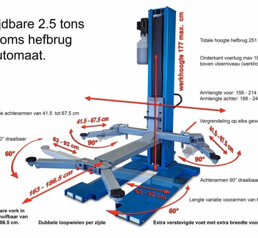 Mobiler 1-Säulen-Lift mit elektronischer Freigabe