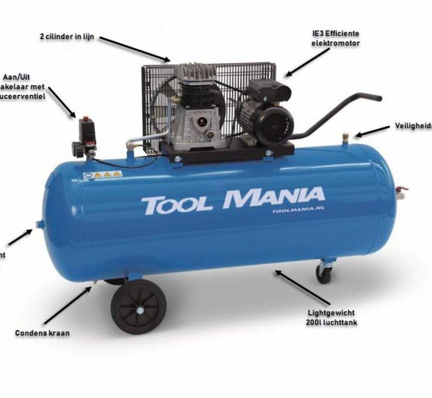 TM 200 Liter Kompressor 3 PS, 230 V.