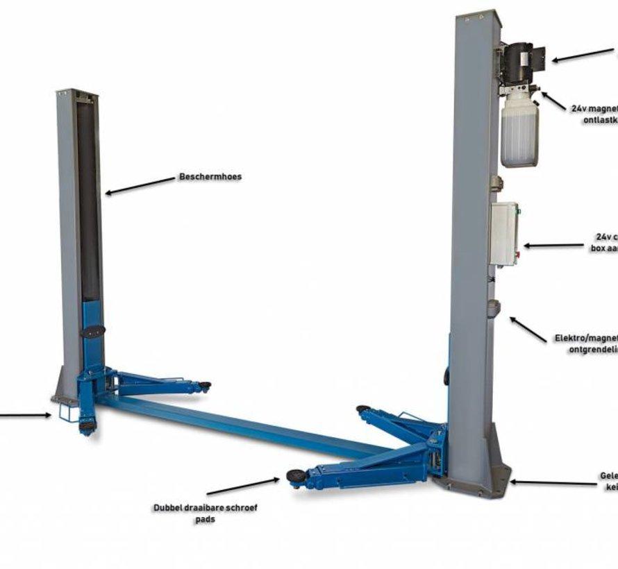 2 Koloms hydraulische hefbrug 5,5 ton HEAVY LINE