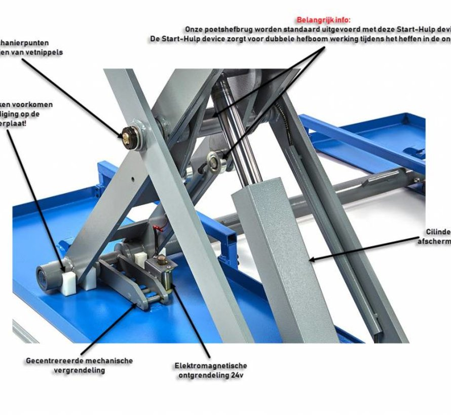 3 Ton Electrische Autopoetsbrug, Poetsbrug 3.0t 230v