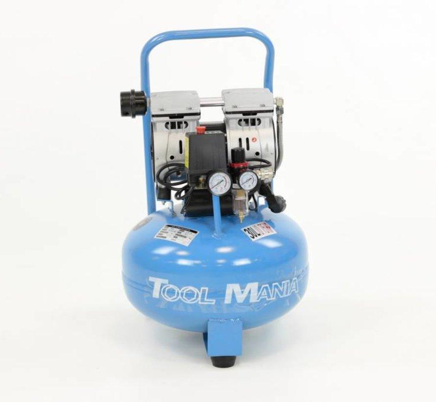 TM 30 Liter Professionele Low Noise Compressor 0,75 HP 230v