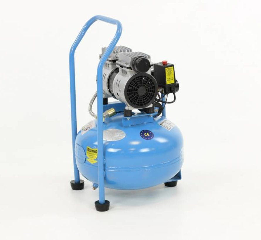 TM 30 Liter professioneller geräuscharmer Kompressor 0,75 PS 230 V.