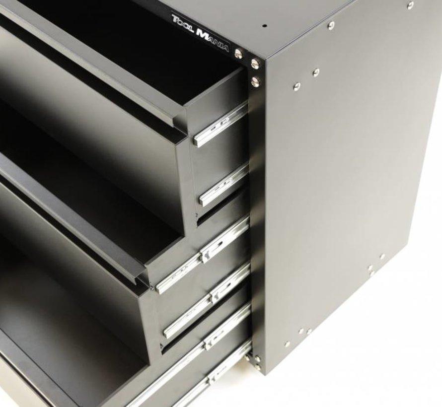Modulair gereedschapskast met 3 Lades ZWART