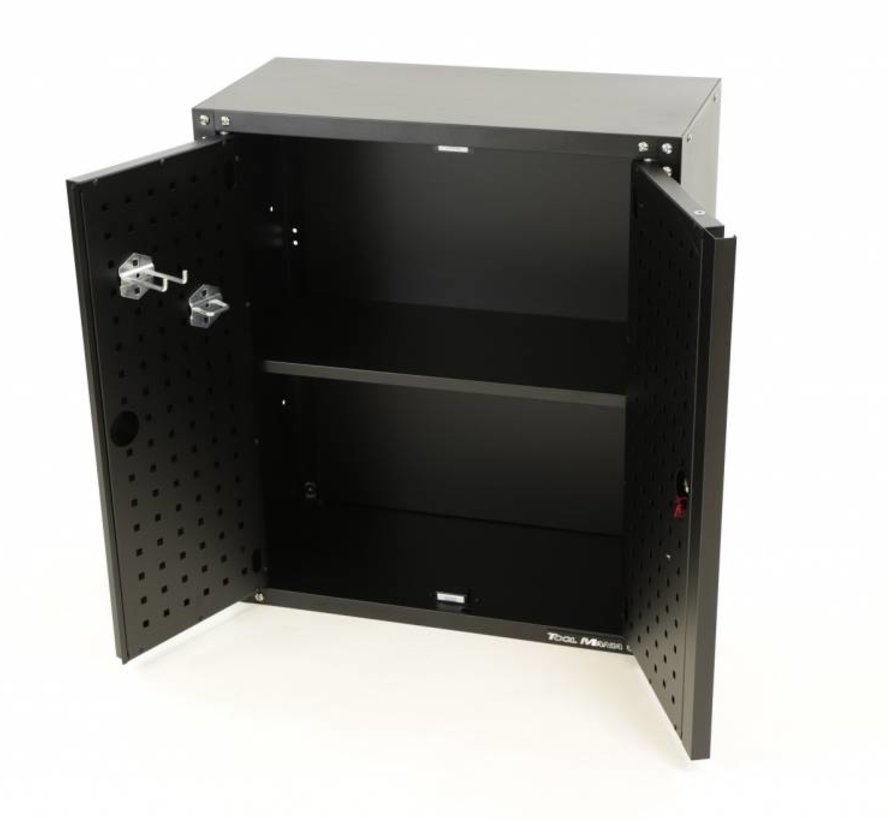 Modular Hanging tool cupboard with doors BLACK