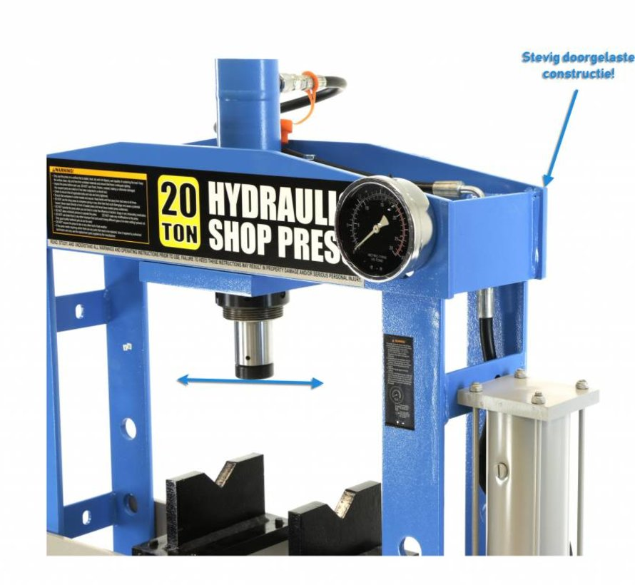 20 Ton Hydraulische en Pneumatische Raamwerkpers / Werkplaatspers