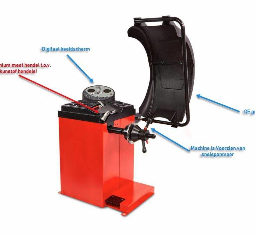 TM Profi Auswuchtmaschine 10-24 Zoll mit Fußbremse
