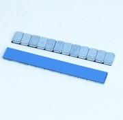 TM 100 stuks kleefgewicht 12x5 gram grijze coating