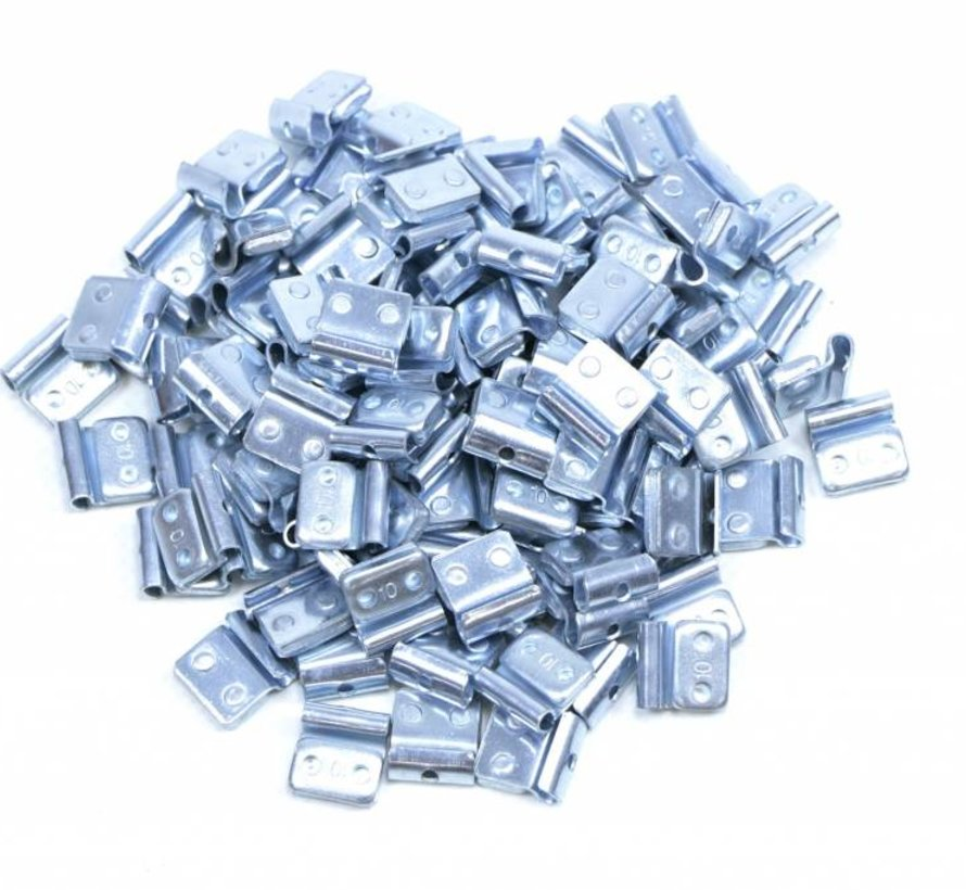 100 pieces Fe wheel weight zinc for steel rims 25 grams
