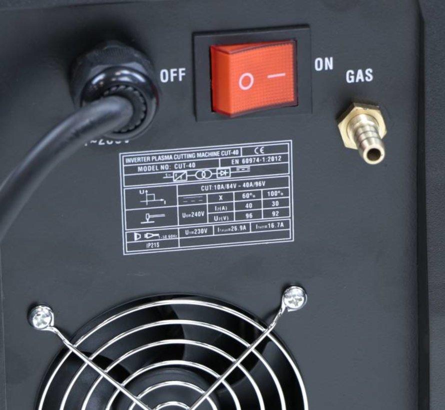 TM CUT 40 Plasmasnijder met Digitaal Display en IGBT Technologie