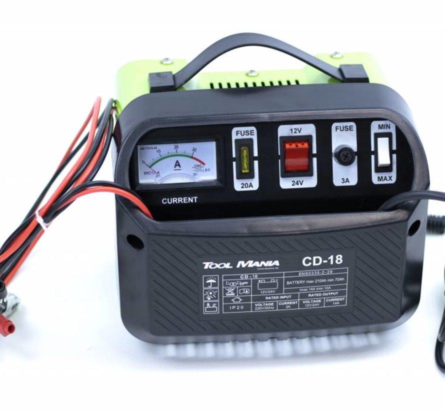 TM Acculader 12 en 24 Volt 230v