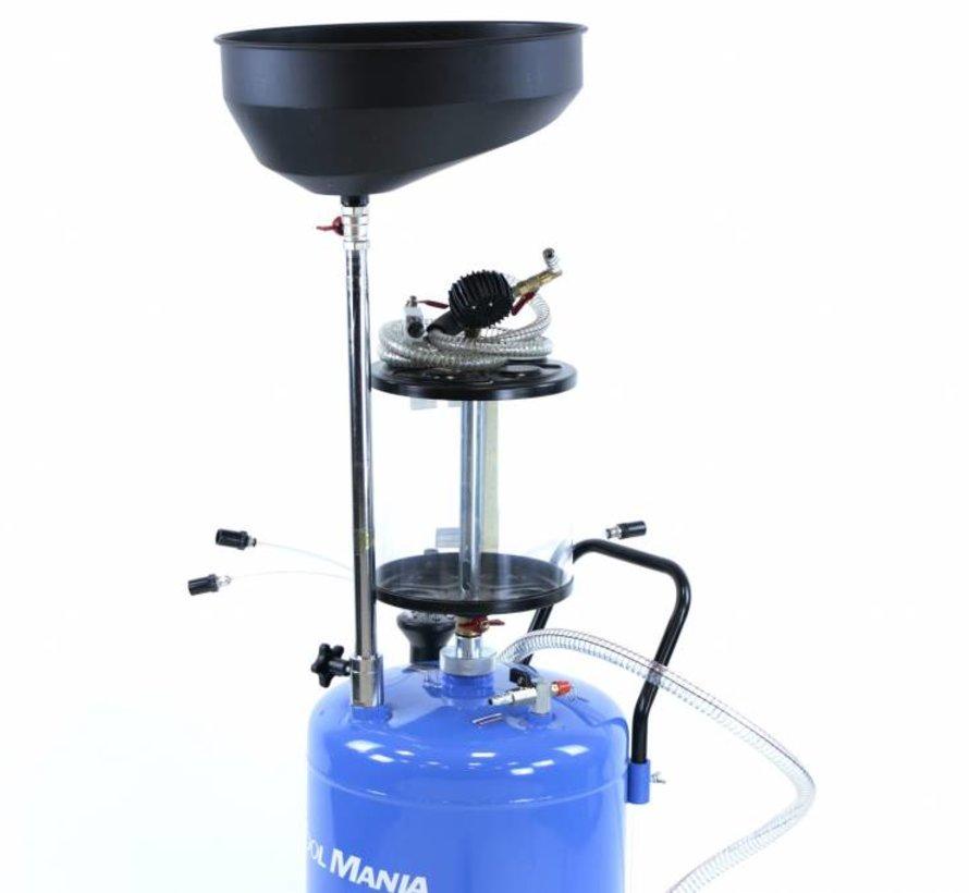 TM Olie opvangsysteem / Olie Afzuiger met Stalen bak