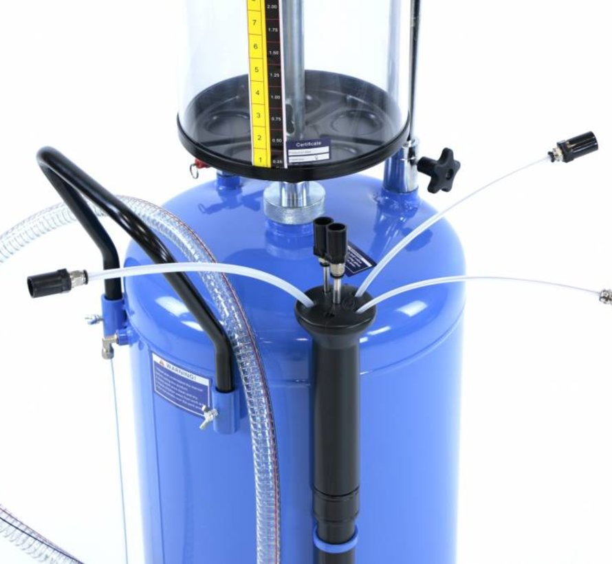TM Ölsammelsystem / Ölabsauger mit Stahlschale - BLAU
