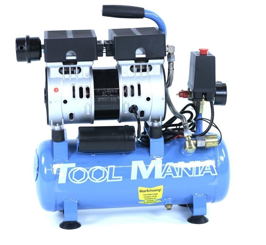 TM 6 Liter professioneller geräuscharmer Kompressor 0,75 PS 230 V.