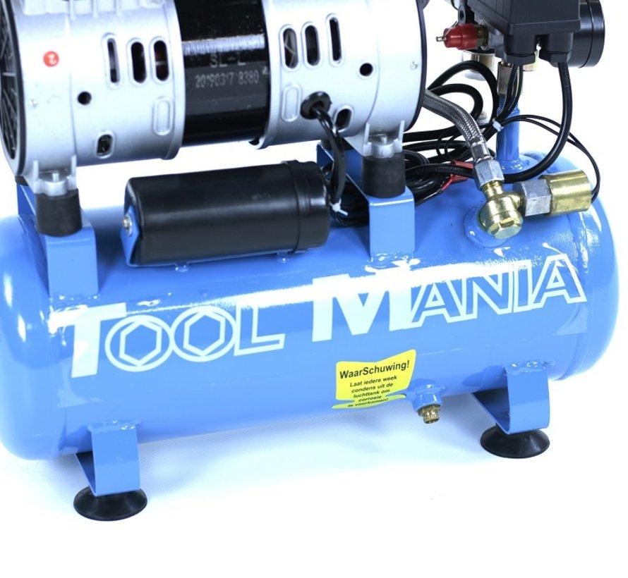 6 Liter Professional Low Noise Compressor 0.75 HP 230v