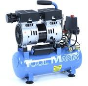 TM TM 6 Liter professioneller geräuscharmer Kompressor 0,75 PS 230 V.