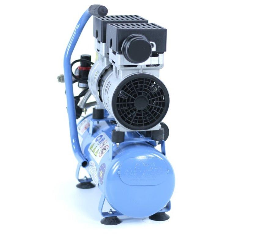 TM 6 Liter Professionele Low Noise Compressor 1HP 230v