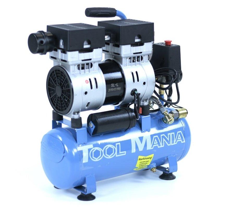 6 Liter Professionele Low Noise Compressor 1HP 230v