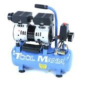 TM Professioneller geräuscharmer 9-Liter-Kompressor 0,75 PS, 230 V