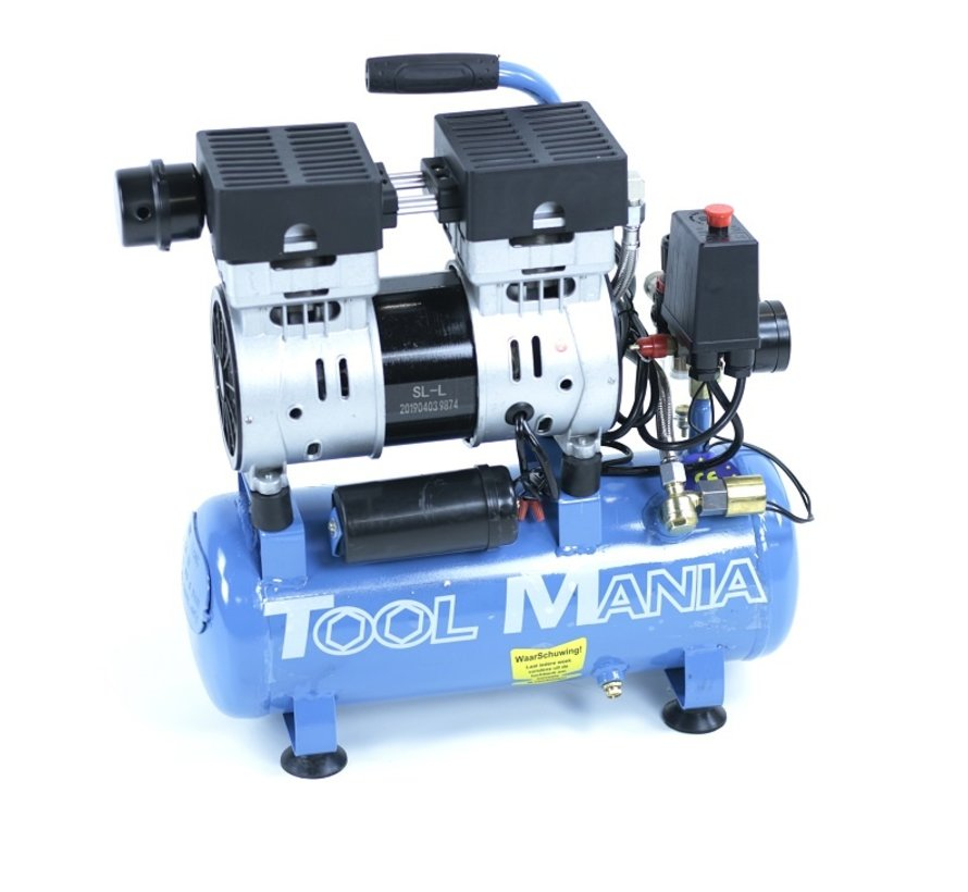 9 Liter Professionele Low Noise Compressor 0.75HP 230v