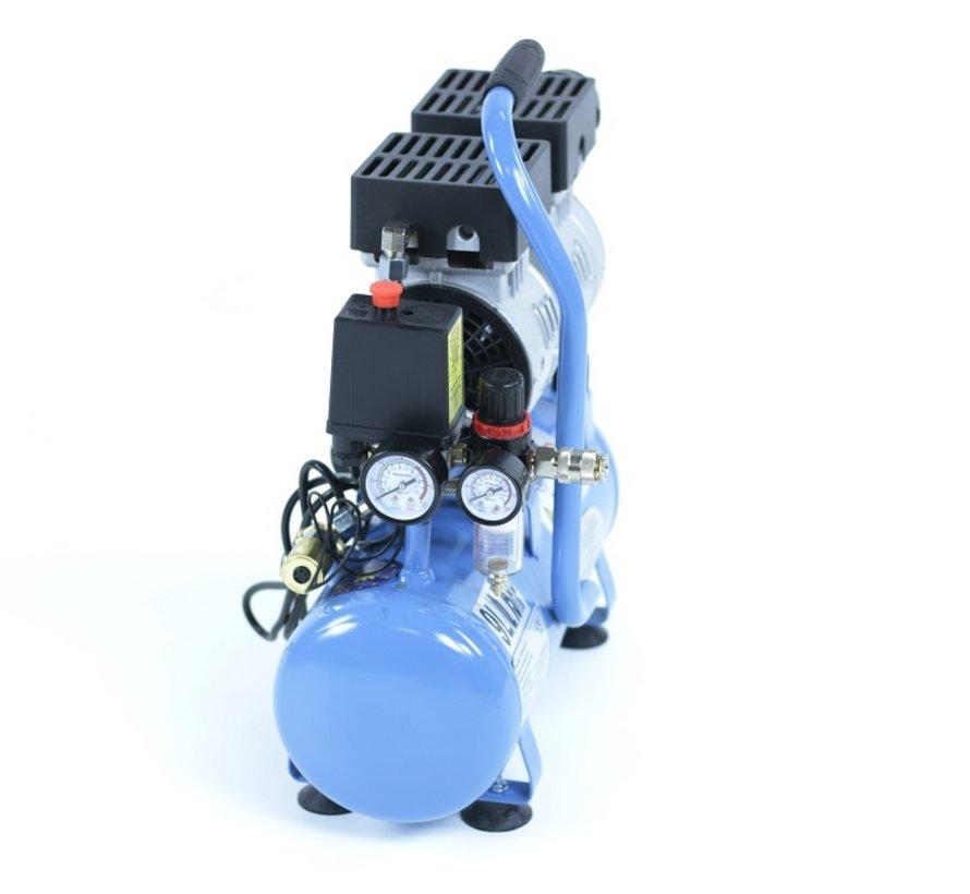 TM 9 Liter professioneller geräuscharmer Kompressor 1 PS 230 V.