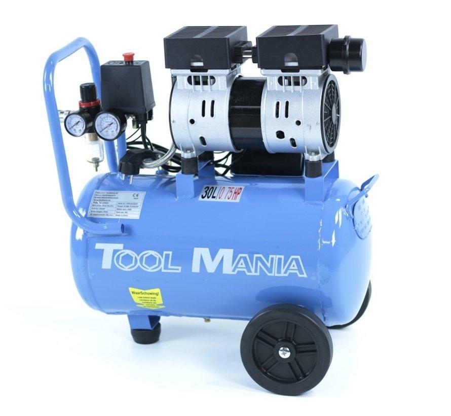 TM 30 Liter Professionele Low Noise Compressor 0,75HP 230v