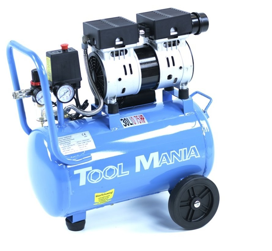 30 Liter Professionele Low Noise Compressor 0,75HP 230v