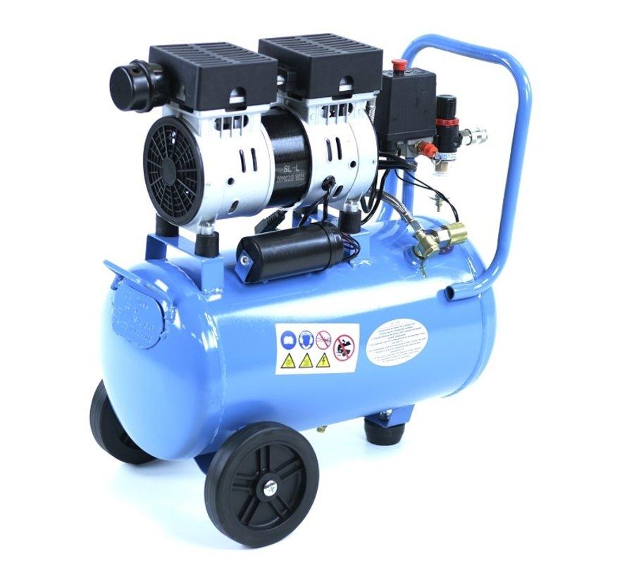 TM 30 Liter Professional Low Noise Compressor 0.75HP 230v