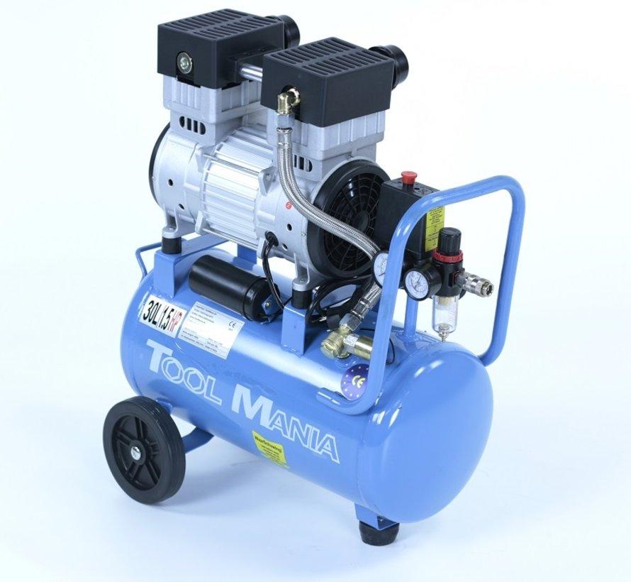 30 Liter Professionele Low Noise Compressor 1,5HP 230v