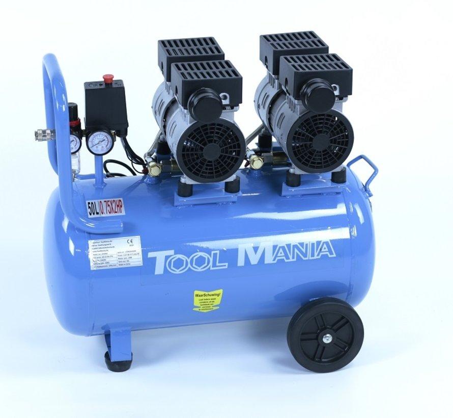 50 Liter Professionele Low Noise Compressor 1,5HP 230v