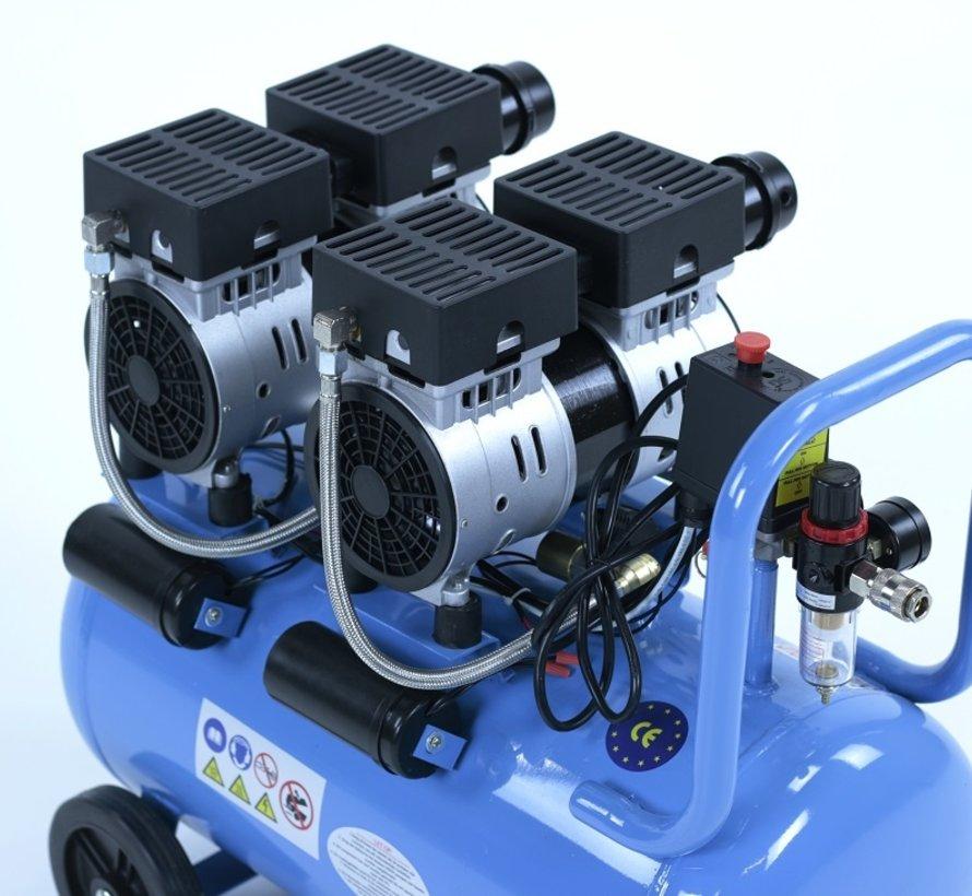 50 Liter Professional Low Noise Compressor 1.5HP 230v