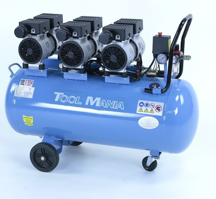 TM 100 Liter Professional Low Noise Compressor 2,25HP 230v