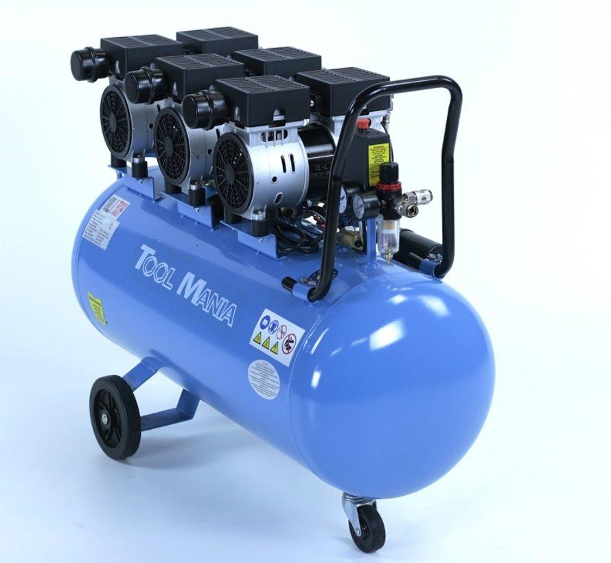100 Liter Professioneller Geräuscharmer Kompressor 3PS 230V