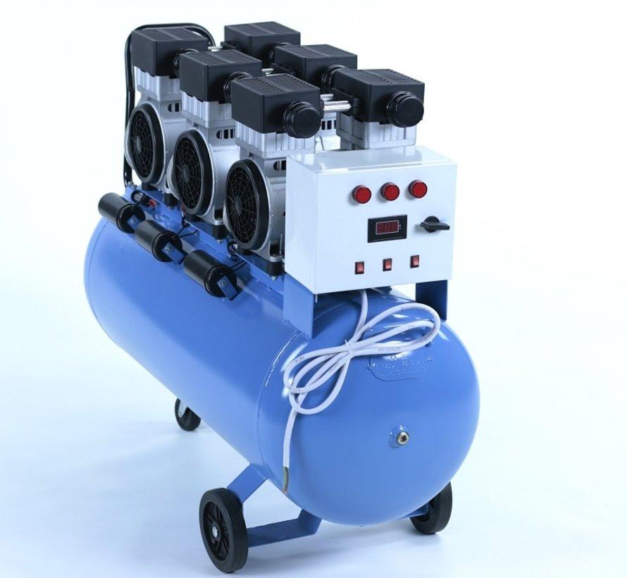 TM 150 Liter professioneller geräuscharmer Kompressor 4,5 PS 230 V.