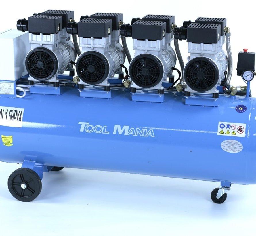 200 Liter Professional Low Noise Compressor 6 HP 230v