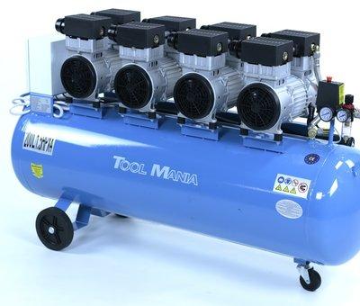 TM TM 200 Liter professioneller geräuscharmer Kompressor 6 PS 230V